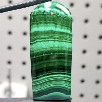 Vibrant Chatoyant Old Stock  Congo Malachite Gemstone Cabochon Hand Crafted By Lexx Stones 125 Carats