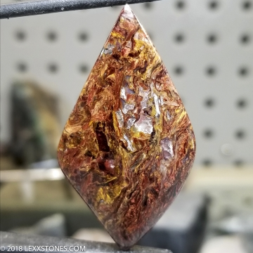 Rare Chatoyant Hunan Pietersite Gemstone Cabochon Hand Crafted By LEXX STONES 31 Carats