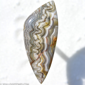 Natural Old Stock Parallax Silver Lace Agate Gemstone Cabochon Hand Crafted By LEXX STONES 85 Carats