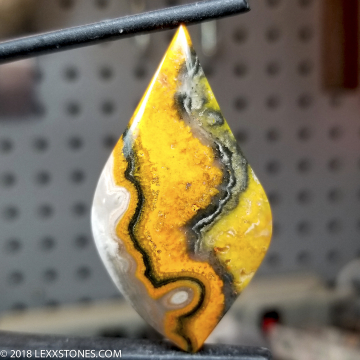 Authentic Natural High Grade Bumble Bee Gemstone Cabochon Hand Crafted By LEXX STONES 56 Carats