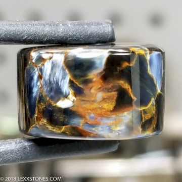 """""""Bead of Fire"""" Chatoyant Fiery Namibian Pietersite Gemstone Barrel Bead Hand Crafted By LEXX STONES 30 Carats"""