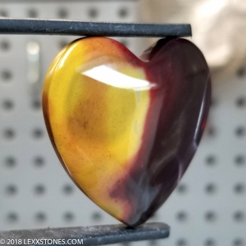 Australian Mookaite Jasper Heart Gemstone Cabochon Hand Crafted By LEXX STONES 72 Carats