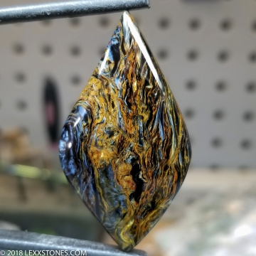 Chatoyant Fiery Namibian Pietersite Gemstone Cabochon Hand Crafted By LEXX STONES 42 Carats