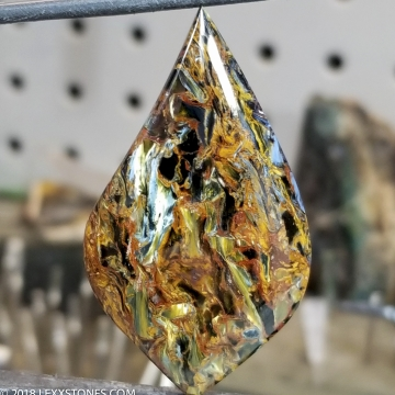 Chatoyant Fiery Namibian Pietersite Gemstone Cabochon Hand Crafted By LEXX STONES 48 Carats