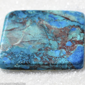 Rare Old Stock Natural Robins Egg Blue Bluebird Mine Azurite Chrysocolla Asymmetric Cabochon Hand Crafted by LEXX STONES 37 Carats