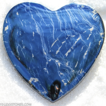 Rare High Grade Butte Iridescent Covellite Gemstone Heart Cabochon Hand Crafted By LEXX STONES 133 Carats