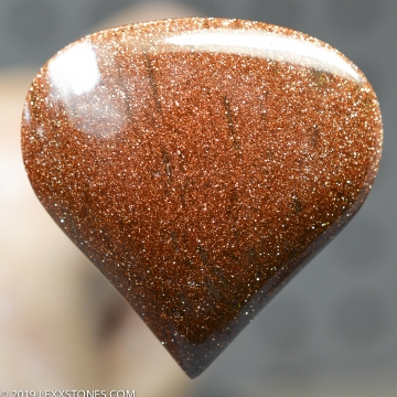 Glittery Copper Goldstone Stellaria Glass Manmade Gemstone Cabochon Hand Crafted By LEXX STONES 79 Carats