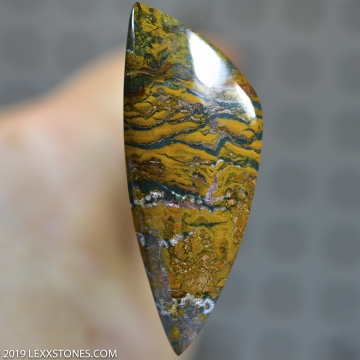 RARE Indonesian Fingerprint Jasper  Gemstone Cabochon Hand Crafted BY LEXX STONES 56 Carats