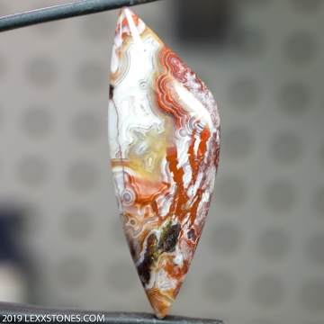 Natural Old Stock Laguna Lace Agate Gemstone Cabochon Hand Crafted By LEXX STONES 64 Carats