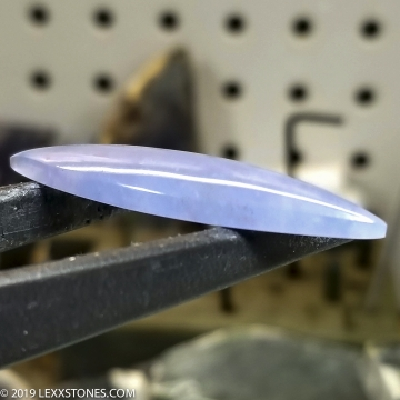 Rare Namibian Blue Chalcedony Gemstone Cabochon Hand Crafted By LEXX STONES 18 carats