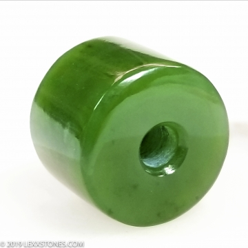 High Grade Siberian Nephrite Jade  Gemstone Bead Hand Crafted by LEXX STONES 35 Carats