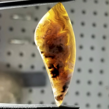 Banded Turkish Pseudomorph Stick Agate Gemstone Cabochon Hand Crafted By LEXX STONES 44 Carats