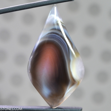 Natural Banded Parallax Botswana Agate Gemstone Cabochon Hand Crafted By Lexx Stones 37 Carats