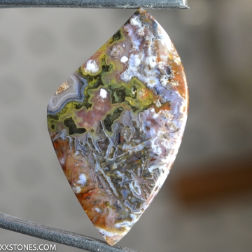 NEW! Indonesian Stick Agate Gemstone Cabochon Hand Crafted By Lexx Stones 45 Carats