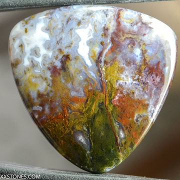 Natural Old Stock Smugglers Cove Moss Agate Gemstone Cabochon Hand Crafted By LEXX STONES 64 Carats